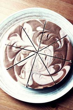 raw chocolate and strawberry cake