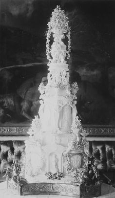Wedding cake for the wedding of Princess Beatrice and Prince Henry of Battenberg   Royal Collection Trust