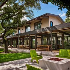 Mid-century modern renovation creates inspired living in Austin