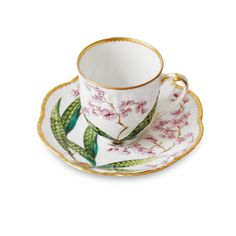 Stories Orchid coffee cup and saucer | Alberto Pinto