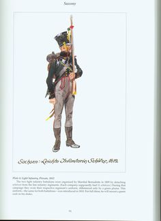 The Confederation of the Rhine - Saxony: Plate 4. Light Infantry, Private, 1812