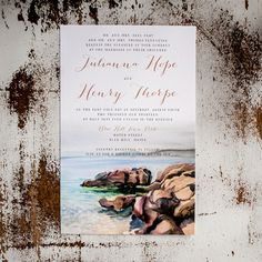 Rustic Wedding Invitations - The Maine Coast - coastal wedding, beach wedding, seaside wedding, maine, invitations, rsvp, inserts, boats