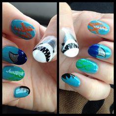 55 Killer Shark Nail Designs