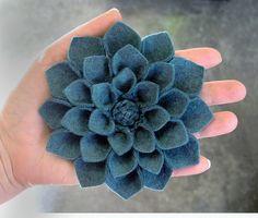 dahlia felt flower