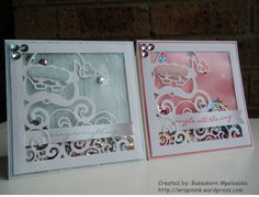 Stampin' Up! Detailed Santa Thinlits Dies, Shaker frame cards, Christmas cards