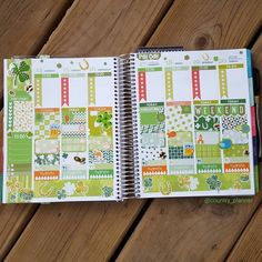 I think I may have gone a little overboard this week with the St. Patrick's Day deco. Oh well  #beforethepen #stpatricksday #weeklylayout #irish #planner #planneraddict #stickers #erincondren #erincondrenlifeplanner #eclp #ecvertical #teamvertical #midwestplanner by country_planner