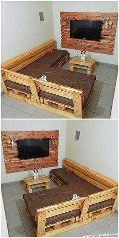 New Rustic Patio Furniture Diy Woods Ideas Wooden Pallet Furniture, Diy Outdoor Furniture, Furniture Projects, Diy Pallet Projects, Rustic Furniture, Furniture Decor, Furniture Design, Wooden Pallets, Pallet Ideas