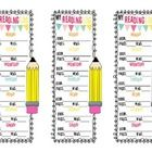 This is a Condensed version of my Reading Log / Book Log in Bookmark form! This helps students track their daily reading for the entire week for us...