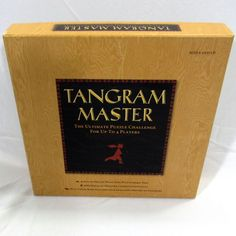 Tangram Master The Ultimate Puzzle Challenge Wood Tangram Pieces Complete #Sterling