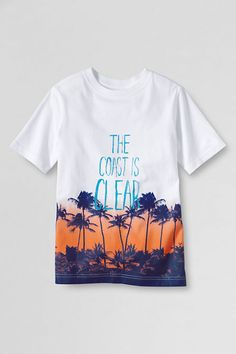 Boys' Graphic Dip Dye T-shirt from Lands' End