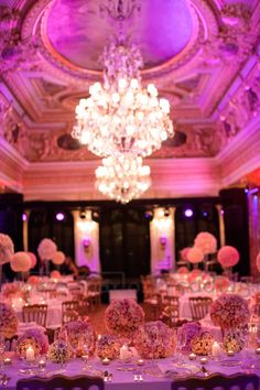 Choose the right decor for your ballroom. Hotel Hermitage Belle Epoque style requires elegance and style. Wedding by Monte-Carlo Weddings