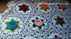Toalha de Mesa em crochê - Jardim Secreto - Detalhes