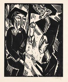 Erich Heckel (1883-1970) was een Duitse schilder en graveur. Heckel was een van de oprichters van de kunstenaarsgroep Die Brücke, een groep in 1905 in Dresden werd opgericht en bestond tot 1913. Samen met de groep Der Blaue Reiter vormde ze de kern van het Duitse expressionisme. Die Brücke begon met vier leden die een brug wilden slaan tussen de traditionele Duitse kunst en het moderne expressionisme.