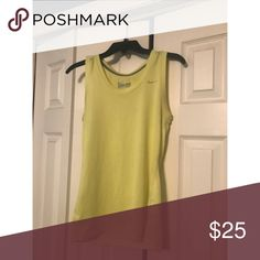 Women's Nike Tank women's Nike Dri-Fit tank! Perfect condition. Regular fit, size small. Made in yellow. 100% polyester Nike Tops Tank Tops