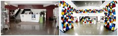 Picture of the french institute before and after Remed's installation. Portugal. 2014. Spray on wall.
