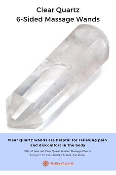 Clear Quartz wands are helpful for relieving pain and discomfort in the body. Many of these cut and polished wands have veiling inside of them. Clear Quartz, Quartz Crystal, Healing Stones, Crystal Healing, Crystal Grid, Book Of Shadows, Natural Crystals, Crystals And Gemstones, Reiki