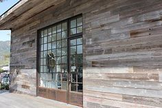 Reclaimed Wood And White Stucco Exterior Starnes House
