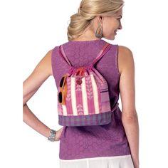 Butterick B6335 Sewing Pattern - Drawstring Backpacks in Three Styles - CraftStash