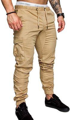 6847ca6a48 #SOMTHRON Men's Elastic Waist Jogger Sweatpants 4XXL Cotton Activewear  Sports Shorts Long Cargo Pants Plus