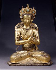 Gild bronze Tibet Ming dynasty