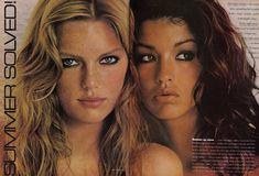 Patti Hansen and Janice Dickinson from the 70's. YES.