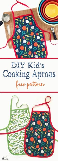 DIY Children's Cooking Apron | Free Pattern | Kids | Baking | Quick and Easy Apron