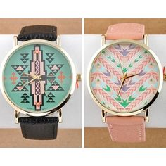 Aztec Watches<3 boho chic hippy unique cool skater