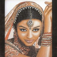I checked out Lanarte Kit Point Compté Indian Model-Version Aïda-Counted Cross Stitch Kit on Lish, € 60,05