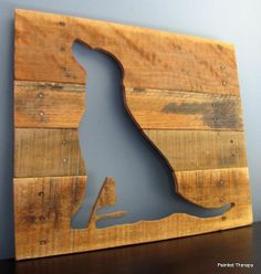 Reclaimed Wood Animal Silhouettes — Great idea for a pet portrait!