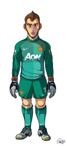 De Gea Manchester United / Liverpool by Sakiroo Choi, via Behance