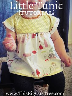 A cute Little Tunic Tutorial for Babies and Kids!