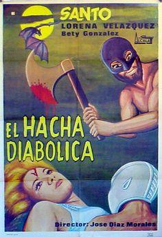 EL HACHA DIABOLICA/ 28661/ SANTO/ 1965/ JOSE DIAZ MORALES/ / POSTER