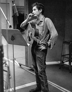 Bob Dylan recording in Wrangler jeans