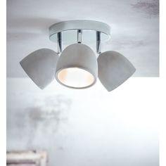 Deckenleuchte mit 3 Spots, Bewegliche Lampenschirme, modern, Beton/Metall Katalogbild