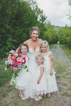 Precious flower girls in white #cedarwoodweddings | Cedarwood Weddings