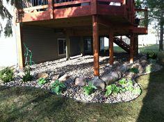 Under deck landscaping, great idea!