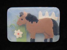 Horse or Pony Soap with natural colors and by PureHeartSoap, $9.00