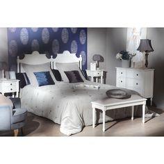 fb82fa4f08ab0 Tête de lit Classique Chic AGATHE L 175 X H 125 X P 5 Blanc Antique AMADEUS