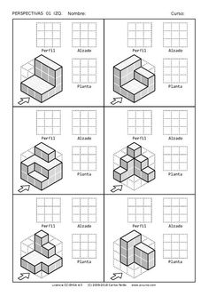 Isometric Drawing Exercises, Isometric Art, Drawing Lessons For Kids, Drawing Practice, Iso Drawing, Basic Drawing, Orthographic Drawing, Orthographic Projection, Perspective Drawing Lessons