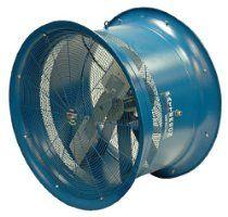 "Patterson Fan H22A-CS High Velocity Fan, Single-Phase, 3 Blades, 22"" Diameter, 115 Volts, 100ft Air Throw Distance"