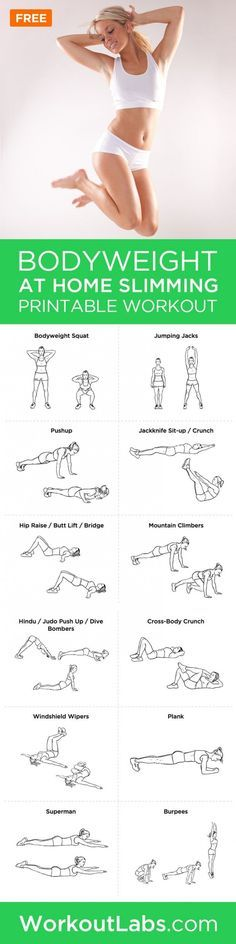 Bodyweight At-Home Workout Routine for Women