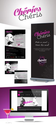 Chéries chéris - Création logo, affiche, flyer, roll-up et site internet. Never The Same, Site Internet, Up, How To Make, Logo Creation, Event Posters, Projects