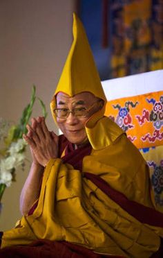 His Holiness the 14th Dalai Lama. Sometimes we forget that the Dalai Lama for all his fame, is a Buddhist monk too.