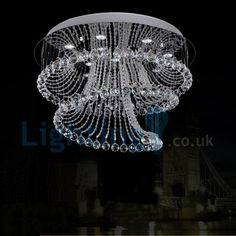 Entryway Chandelier, Chandelier Lighting Fixtures, Art Deco Lighting, Staircase Lighting Ideas, High Ceiling Living Room, Crystal Ceiling Light, Drop Lights, Ceiling Light Design, Contemporary Chandelier