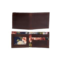 Men's Wallet - Brown Floral