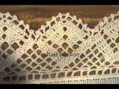 ▶ SERVILLETAS BORDADAS CON PUNTAS PUNTILLAS ORILLAS BORDES, GANCHILLO CROCHET - YouTube