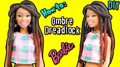 How to: Dreadlock Hairstyle for Barbie Doll - DIY Ombre Yarn Dreadlock -...