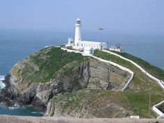 South Stack Lighthouse - South Stack Rock - Irish Sea - Off Holyhead Island - Established 1809