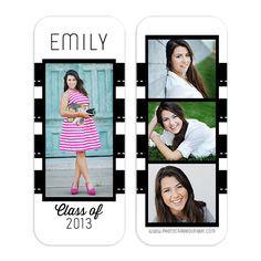 Emily Senior Rep Card Template $8