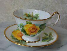 PARAGON TEACUP and SAUCER SET - Yellow Rose E50I, TEA CUP, bone china